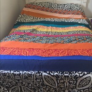 Anthropologie Multicolored Duvet